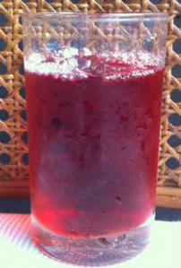 紅酢水割り
