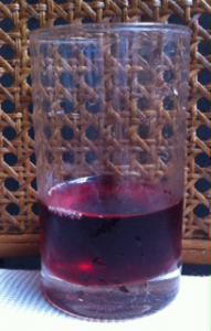 紅酢グラス