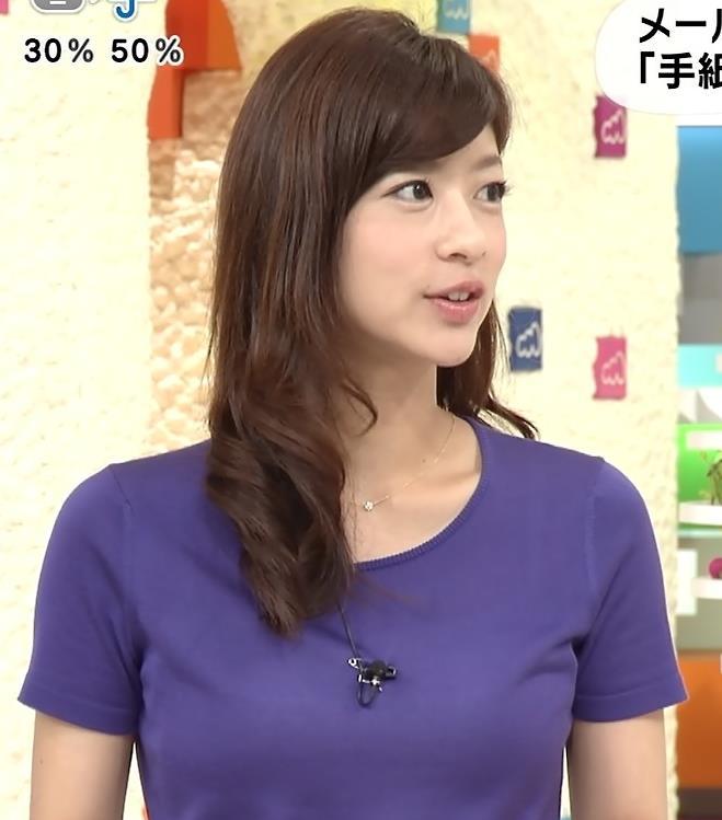 生野陽子 胸のふくらみ 紫の半袖キャプ画像(エロ・アイコラ画像)