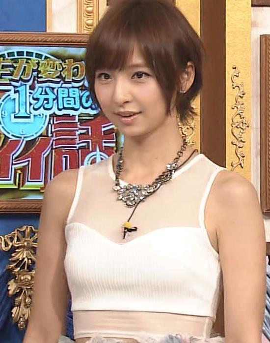 篠田麻里子 スケスケ衣装キャプ画像(エロ・アイコラ画像)