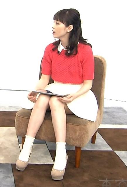 平野綾 ミニスカ美脚キャプ画像(エロ・アイコラ画像)