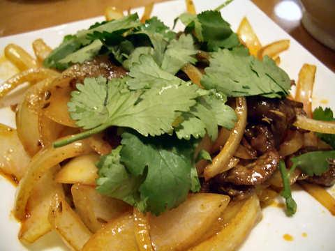 ラム肉のスパイス炒め@万宝海鮮屋