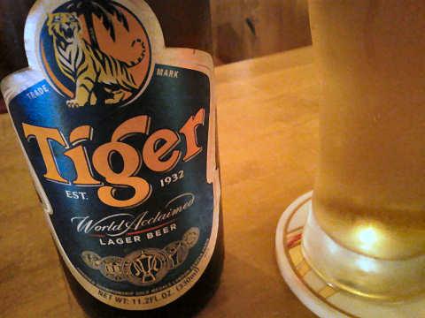 タイガービール@ケニーアジア
